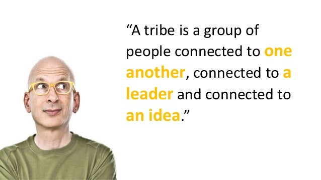 A visual summary of the book Tribes by Seth Godin Slide 3