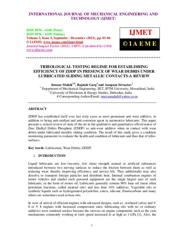 International Journal of JOURNAL OF MECHANICAL ENGINEERING AND  INTERNATIONAL Mechanical Engineering and Technology (IJMET...