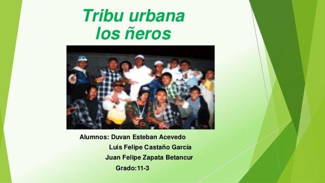 Tribu urbana los ñeros Alumnos: Duvan Esteban Acevedo Luis Felipe Castaño García Juan Felipe Zapata Betancur Grado:11-3