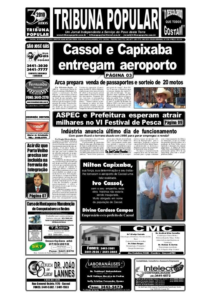 2010                  anos                DE  TRIBUNA                                                Um Jornal Independent...