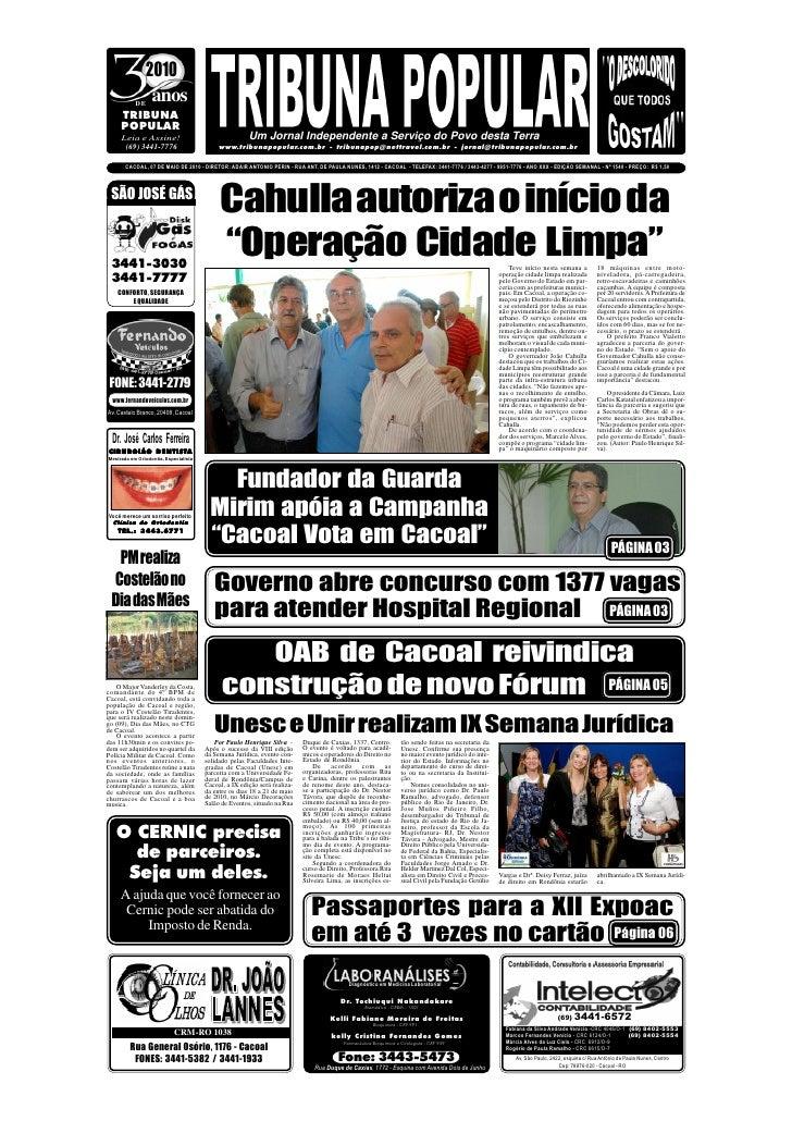 2010            DE                 anos      TRIBUNA      POPULAR      Leia e Assine!                                    U...
