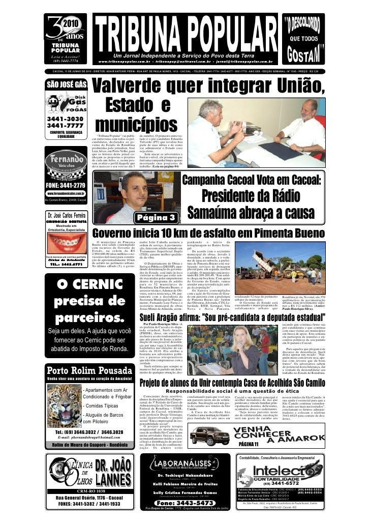 2010           DE                anos     TRIBUNA     POPULAR     Leia e Assine!                                  Um Jorna...
