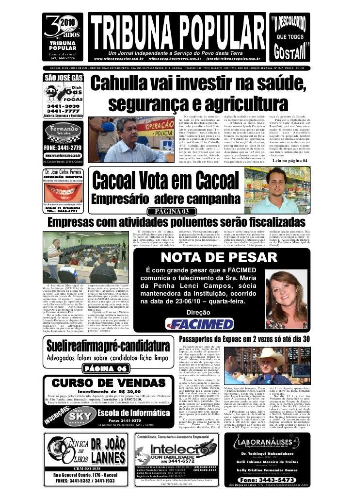 2010            DE                 anos      TRIBUNA      POPULAR      Leia e Assine!                                     ...