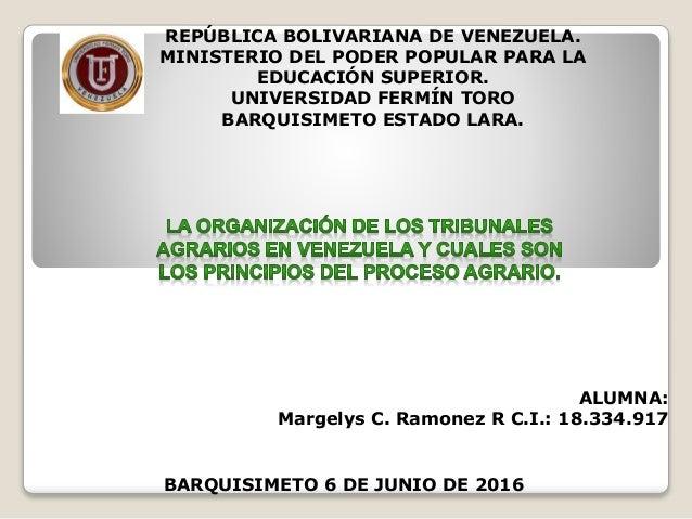 REPÚBLICA BOLIVARIANA DE VENEZUELA. MINISTERIO DEL PODER POPULAR PARA LA EDUCACIÓN SUPERIOR. UNIVERSIDAD FERMÍN TORO BARQU...