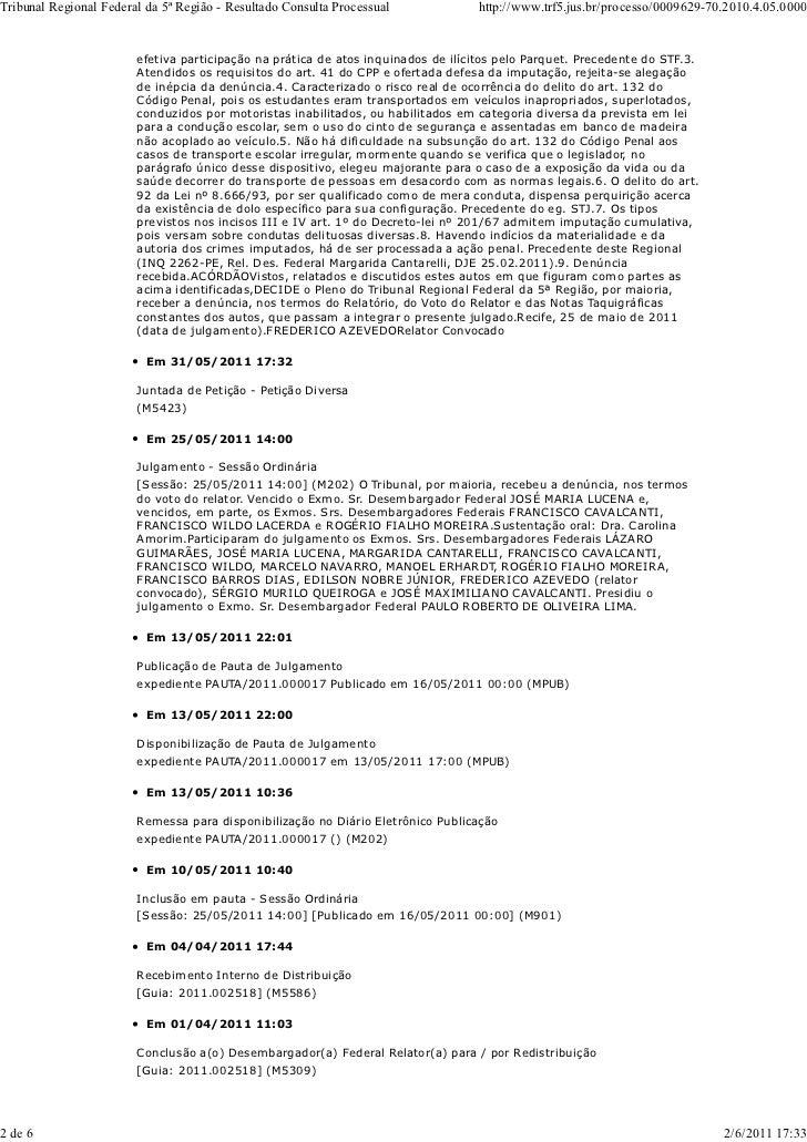 Tribunal regional federal da 5ª região   resultado consulta processual Slide 2