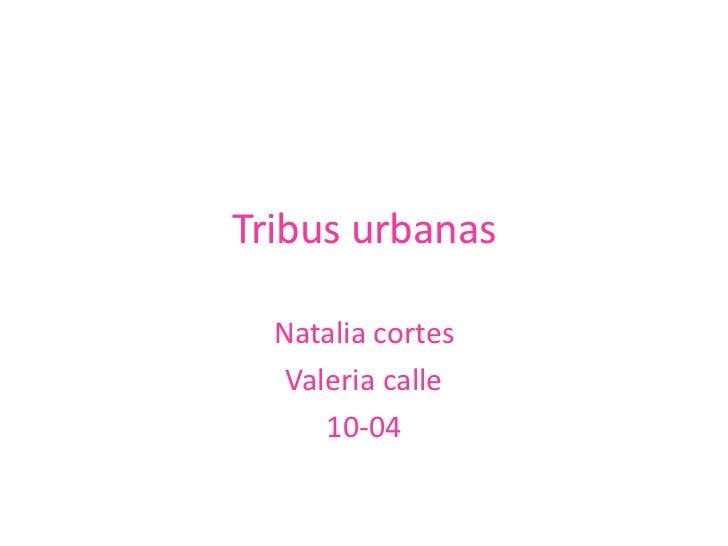 Tribusurbanas<br />Natalia cortes <br />Valeria calle<br />10-04<br />