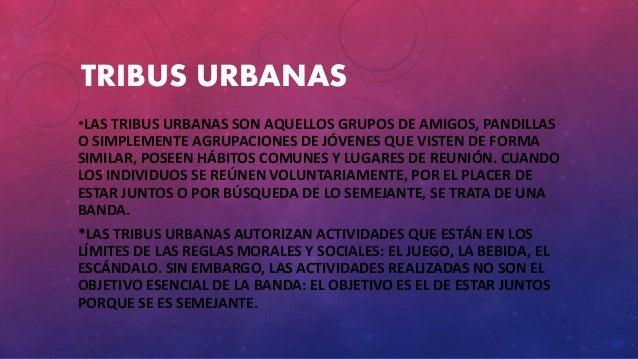 TRIBUS URBANAS *LAS TRIBUS URBANAS SON AQUELLOS GRUPOS DE AMIGOS, PANDILLAS O SIMPLEMENTE AGRUPACIONES DE JÓVENES QUE VIST...