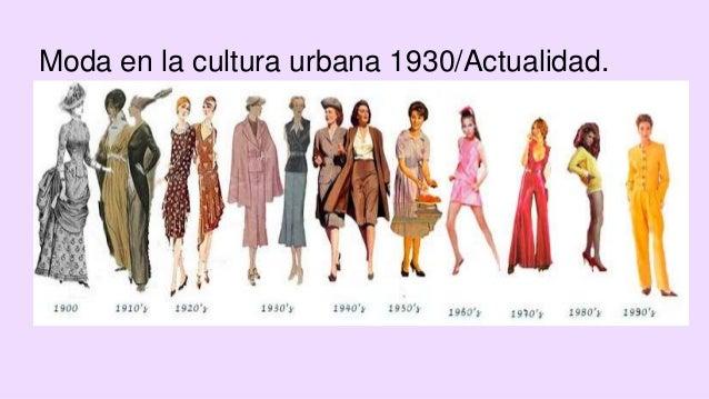 Moda en la cultura urbana 1930/Actualidad.