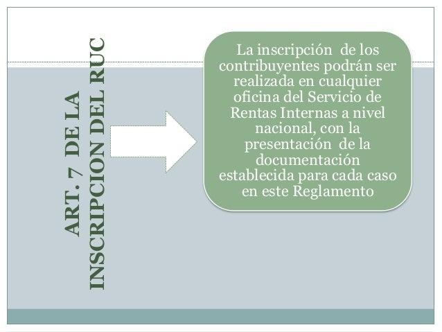 8 1 reglamento para la aplicaci n de la ley de registro for Oficina del contribuyente