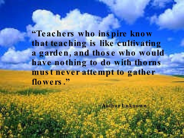 Those That Know Do Those That Understand Teach: Tribute To Teachers