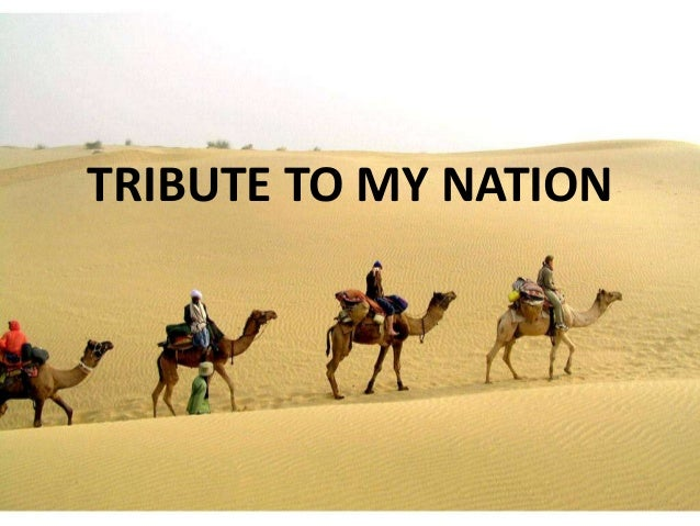 TRIBUTE TO MY NATION