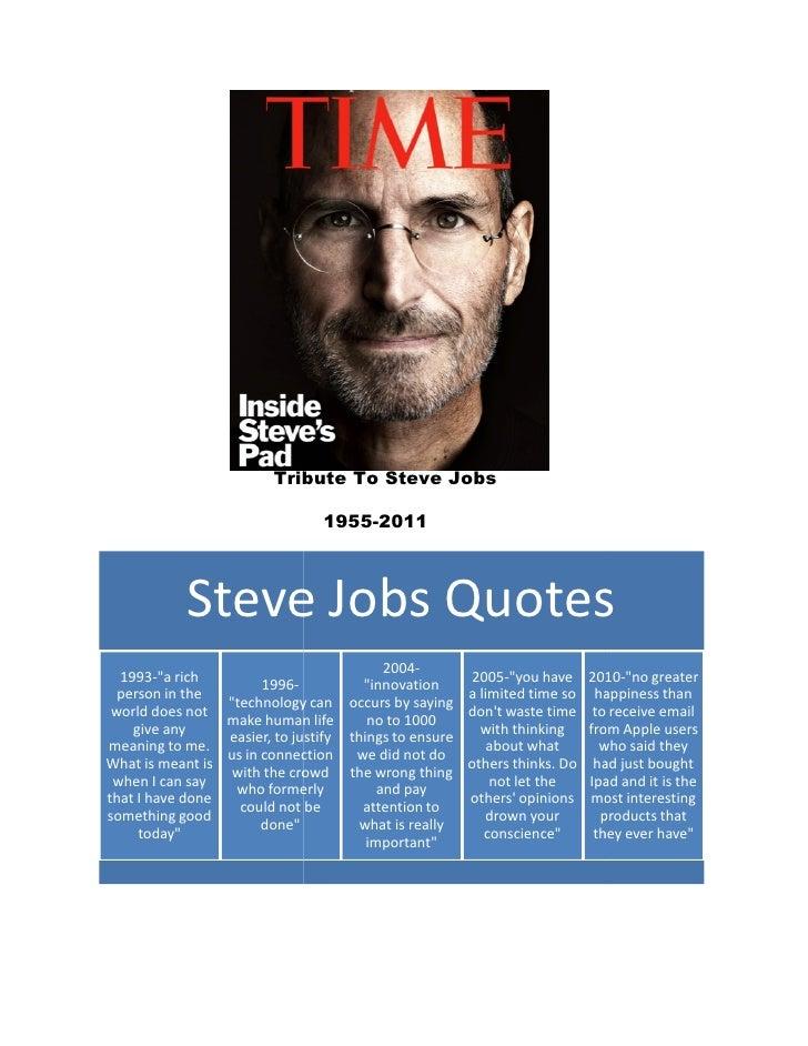 Tribute To Steve Jobs                                1955-2011            Steve Jobs Quotes                               ...