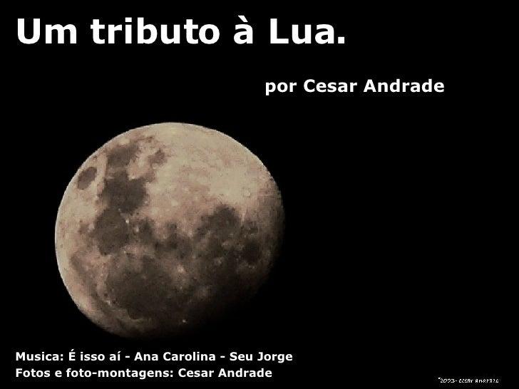 Um tributo à Lua. Fotos e foto-montagens: Cesar Andrade Musica: É isso aí - Ana Carolina - Seu Jorge por Cesar Andrade