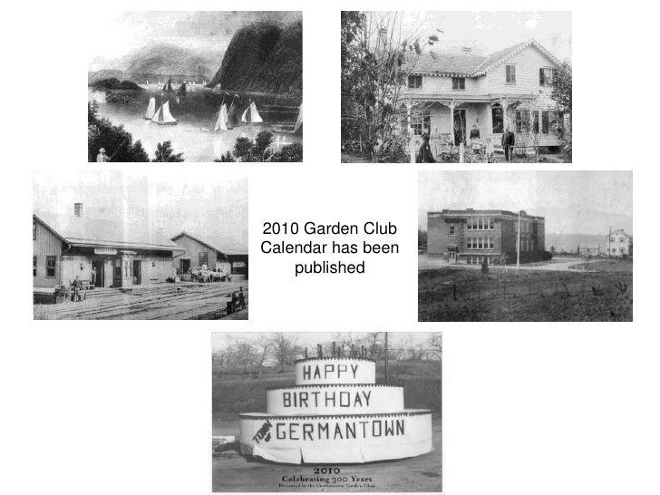 2010 Garden Club Calendar has been     published