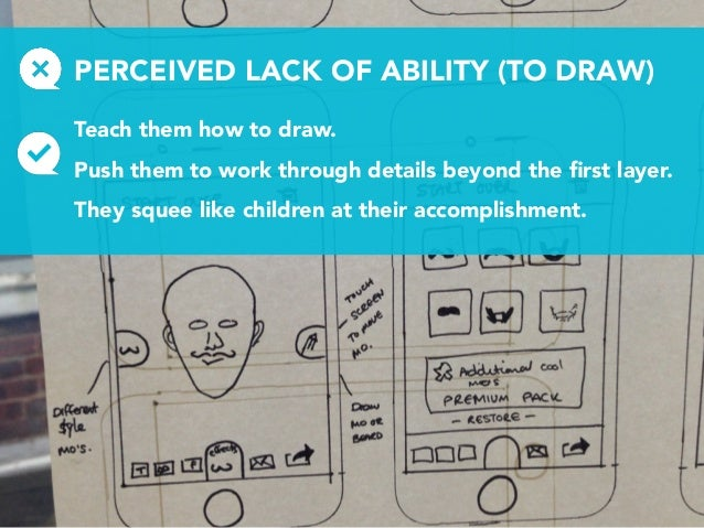 PERCEIVED LACK OF ABILITY (TO DRAW) Teach them how to draw. Push them to work through details beyond the first layer. They ...