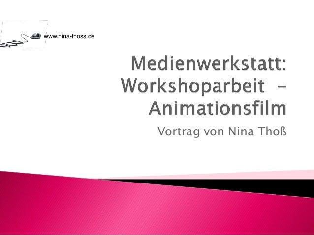 Vortrag von Nina Thoß www.nina-thoss.de