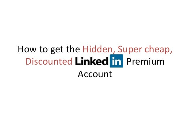How to get the Hidden, Super cheap, Discounted Premium Account