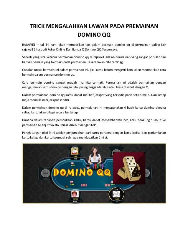 Trick Mengalahkan Lawan Pada Premainan Domino Qq