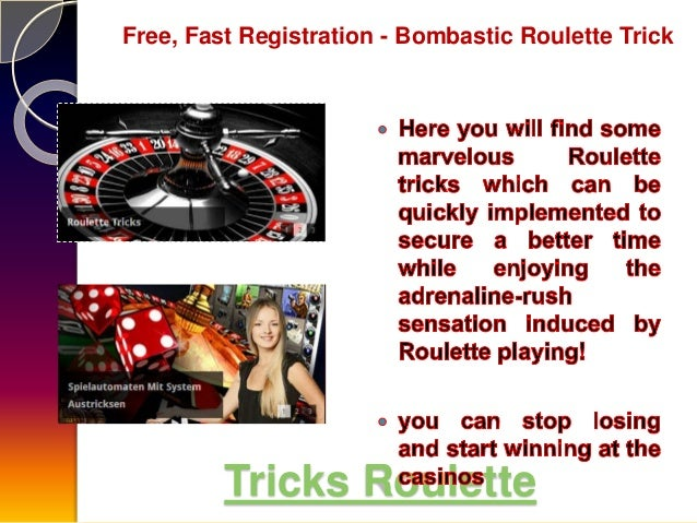 Tricks For Roulette Machine