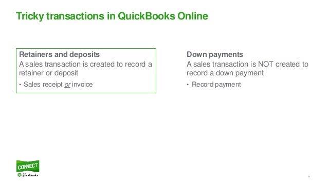 Tricky Transactions In QuickBooks Online - Quickbooks online invoice deposit