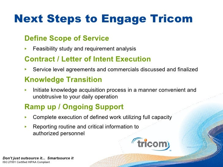 Tricom Letter Of Intent