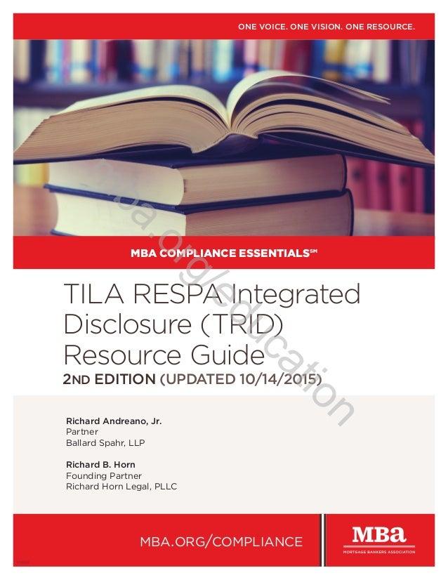 Richard Andreano, Jr. Partner Ballard Spahr, LLP Richard B. Horn Founding Partner Richard Horn Legal, PLLC TILA RESPA Inte...