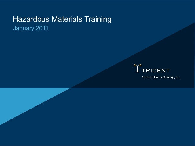 Hazardous Materials Training January 2011