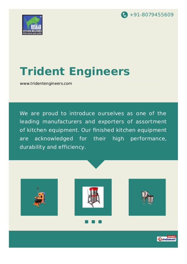+91-8079455609 Trident Engineers www.tridentengineers.com We are proud to introduce ourselves as one of the leading manufa...