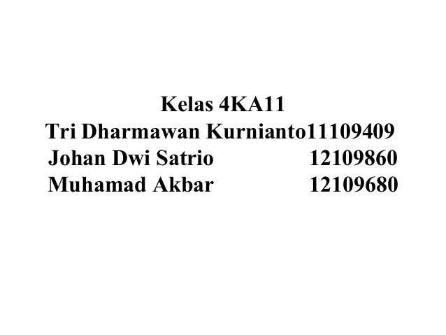 Kelas 4KA11Tri Dharmawan Kurnianto11109409Johan Dwi Satrio 12109860Muhamad Akbar 12109680