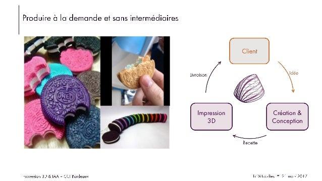 Tridifoodies - impression 3d alimentaire - disruption IAA par la foodtech - cci bordeaux 21 03 2017