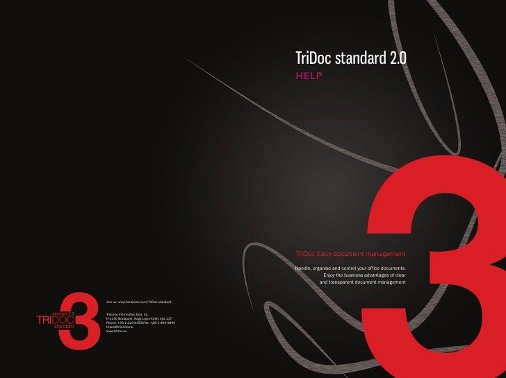 TriDoc standard 2.0 HELP