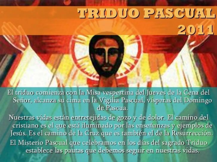 Triduo Pascual - Pquia. San Roque