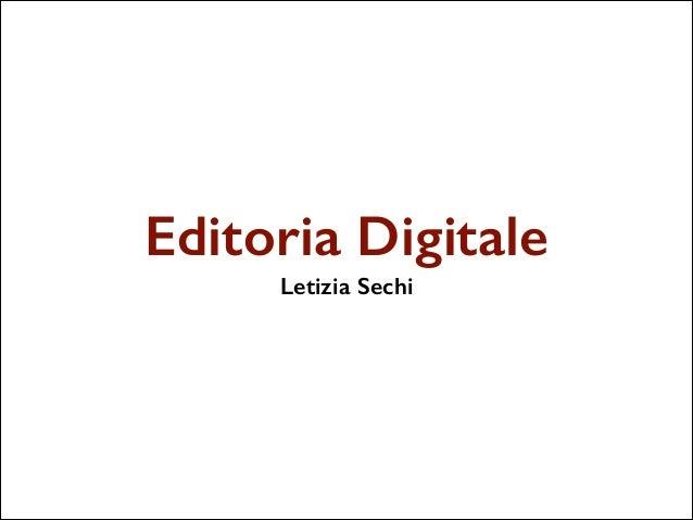 Editoria Digitale Letizia Sechi