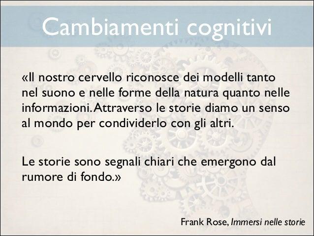 Cambiamenti cognitivi «Il nostro cervello riconosce dei modelli tanto nel suono e nelle forme della natura quanto nelle in...