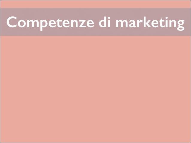 Competenze di marketing