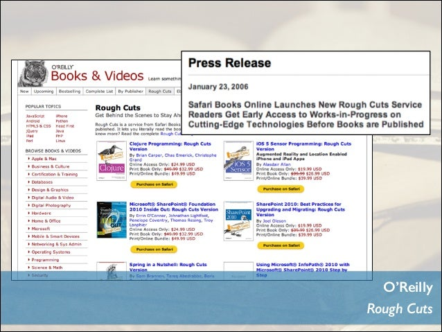 Rough Cuts is a service from Safari Books Online that gives you early access to content on cutting-edge technologies — bef...