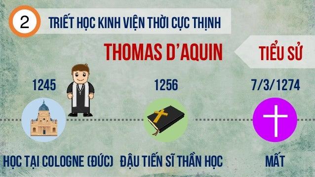 Tiểu sử 1245 Đậu tiến sĩ thần học Mất 7/3/1274 Học tại cologne (đức) 1256 Thomas d'aquin Triếthọc kinh viện thời cực thịnh2