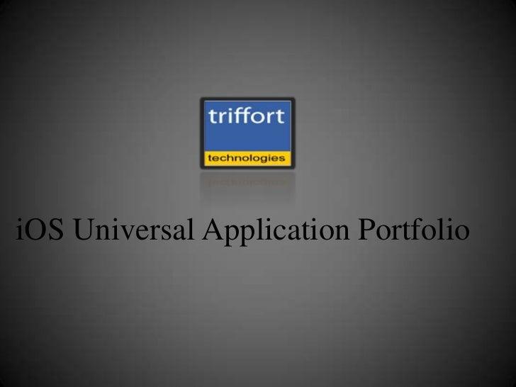 iOS Universal Application Portfolio