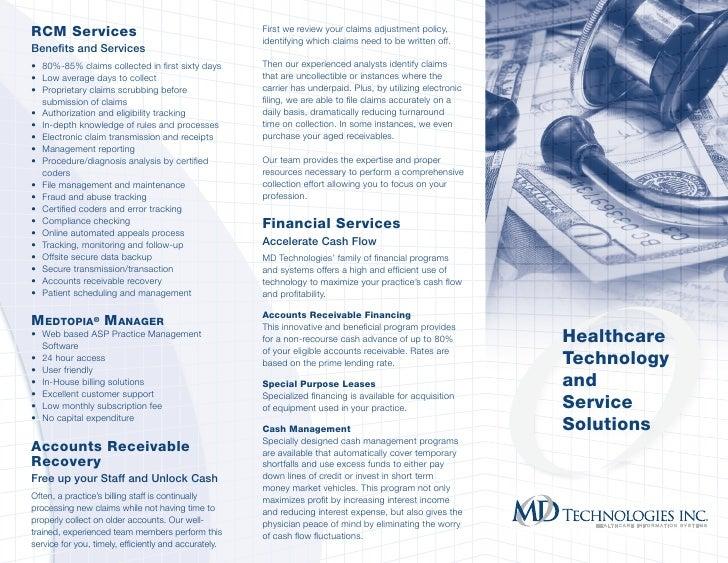 brochure md technologies inc your medical billing outsourcing par