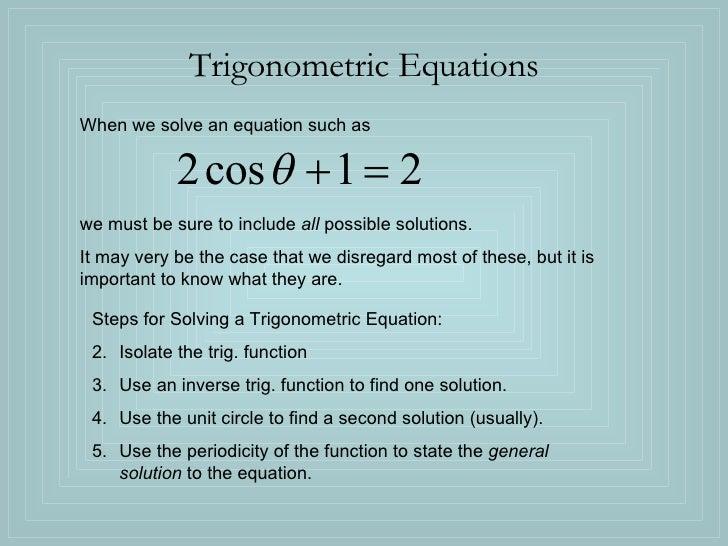 Trig Equations For Upload