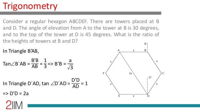 Trigonometry - Height and Distances