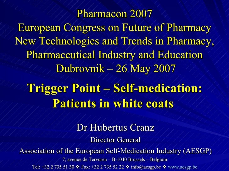 Pharmacon 2007 European Congress on Future of Pharmacy New Technologies and Trends in Pharmacy, Pharmaceutical Industry an...