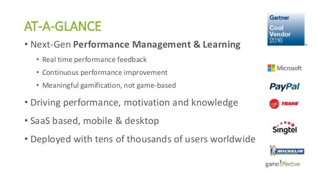 AT-A-GLANCE • Next-Gen Performance Management & Learning • Real time performance feedback • Continuous performance improve...