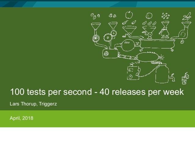 100 tests per second - 40 releases per week Lars Thorup, Triggerz April, 2018