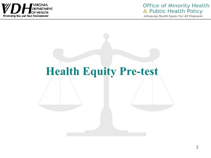 Training of the Trainer: Health Equity 101