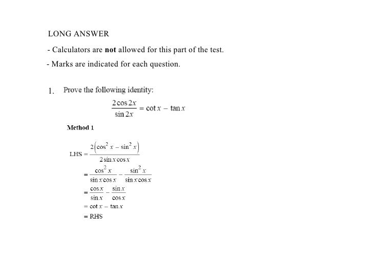 Trig Identities Review Answers – Proving Trigonometric Identities Worksheet