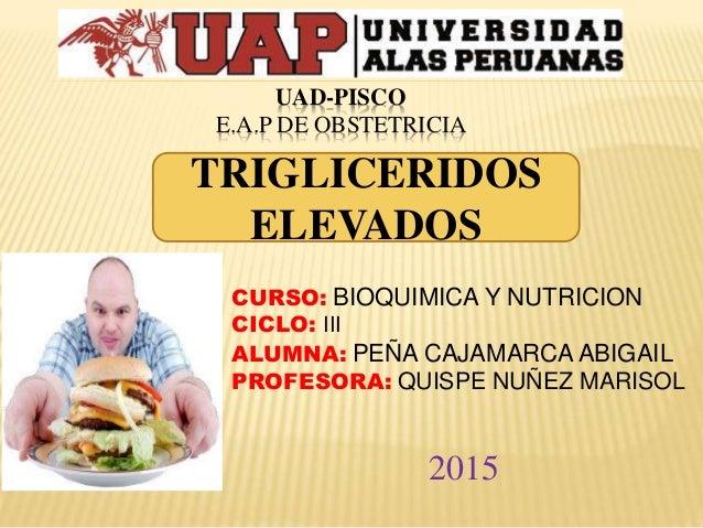 UAD-PISCO E.A.P DE OBSTETRICIA CURSO: BIOQUIMICA Y NUTRICION CICLO: III ALUMNA: PEÑA CAJAMARCA ABIGAIL PROFESORA: QUISPE N...
