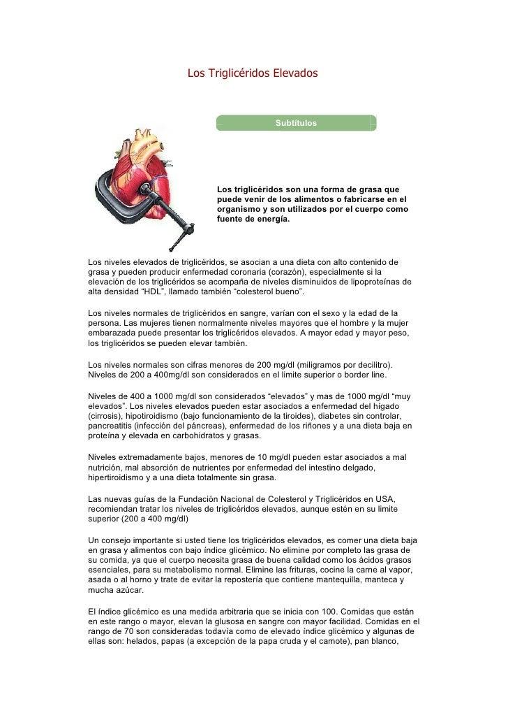 Los Triglicéridos Elevados                                                  Subtítulos                                  Lo...