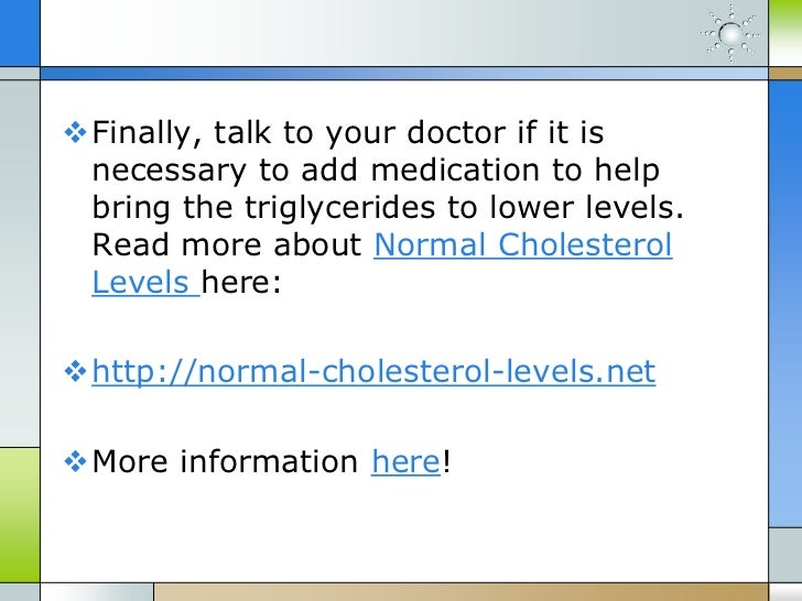 how to bring down high triglycerides