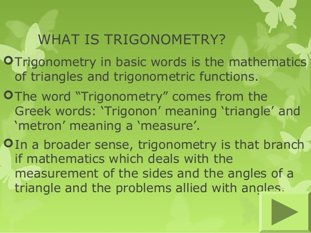 A history of trigonometry in mathematics